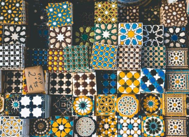 Kachličky azulejos sú dostupné v rôznych farbách