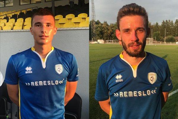 Dvaja defenzívne ladení hráči Mário Jacko a Ján Hatok.