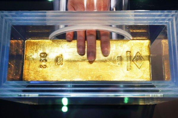 Dvanásťkilová zlatá tehlička.