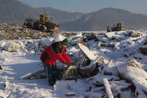 Na fotografii z januára 2009 je obyvateľ Považského Chlmca. Na skládku sa aktivisti vybrali potom, čo ju neuzavreli, keďže poslanci NRSR dali nevyhovujúcim skládkam pol roka navyše.