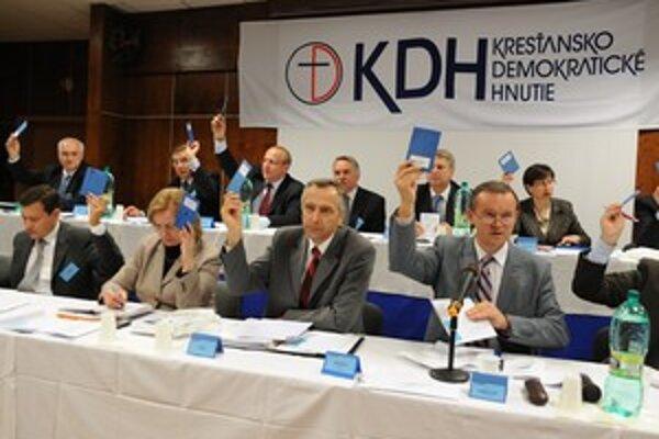 Členovia predsedníctva republikovej rady KDH hlasovali v Žiline.