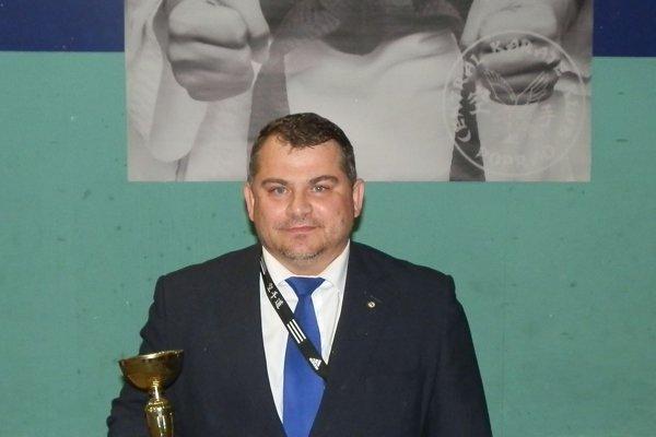 Predseda atréner ŠKM-KK František Vorobeľ.