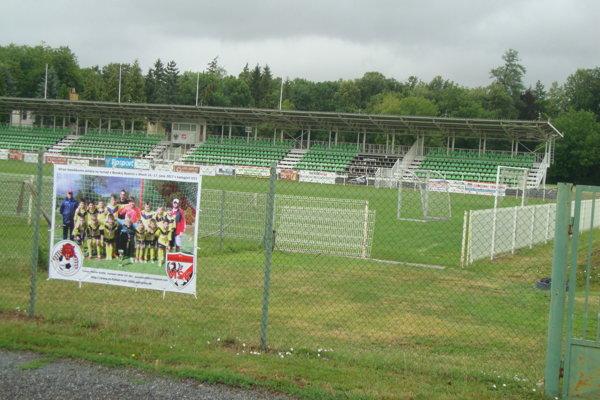 Pohľad na areál štadióna v Rimavskej Sobote.