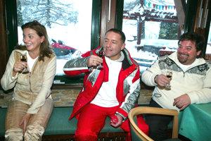 18. december 2005. Na Donovaloch v spoločnosti Moniky Beňovej a Fedora Flašíka.