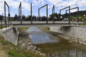 Na snímke nový most v bardejovskej mestskej časti Dlhá Lúka počas slávnostného otvorenia