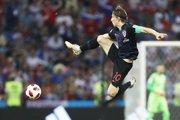 V hre o titul majstra sveta zostali aj Chorváti. Na snímke Luka Modrič z Realu Madrid.