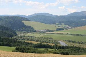 Výhľad na trase Údol - Plaveč