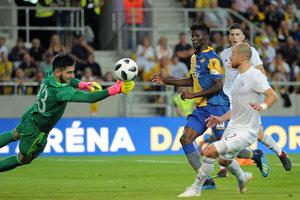 Momentka zo zápasu Dunajská Streda - Dinamo Tbilisi.