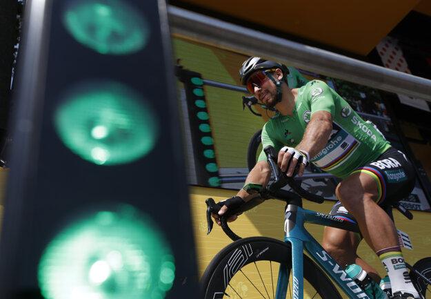 Peter Sagan na štarte 7. etapy na Tour de France 2018.