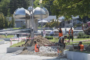 Revitalizačné práce na Námestí slobody v Bratislave.