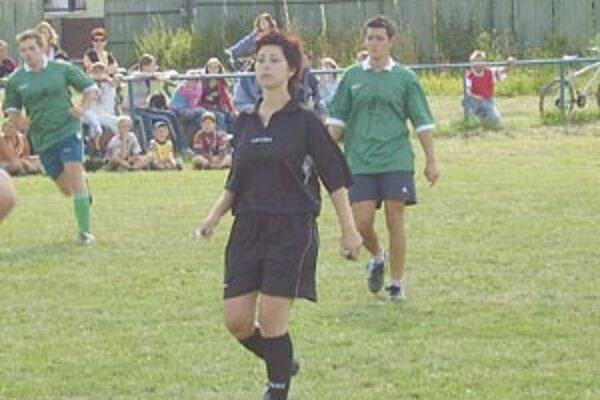 Petra Dingová na svojom prvom zápase v Mojši.