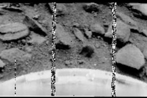 Záber povrchu Venuše zo sondy Venera 9.
