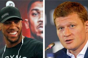 Anthony Joshua (vľavo) a Alexander Povetkin sa stretnú vo Wembley.