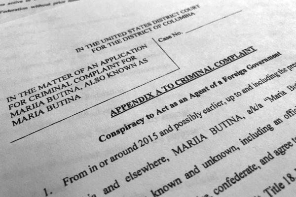 Časť z obvinenia proti Marii Butinovej.