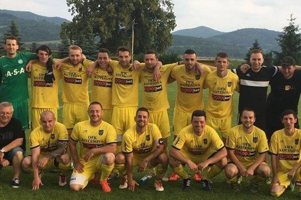 OFK Kotešová, víťaz 1. DOXXbet triedy ObFZ Žilina, sezóna 2017/2018.