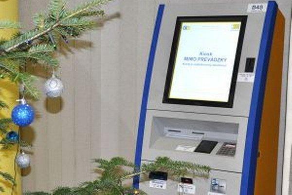 Kiosk na Okresnom úrade v Dolnom Kubíne je zatiaľ mimo prevádzky.