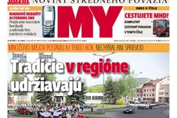 MY Noviny stredného Považia už v predajniach a novinových stánkoch.