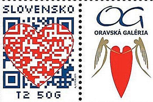 Oravská galéria ponúkla Slovenskej pošte dielo so srdcom, výsledkom je spievajúca známka.