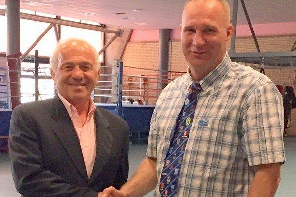 Peter Triebeľ s prezidentom EUBC Francom Falcinellim.