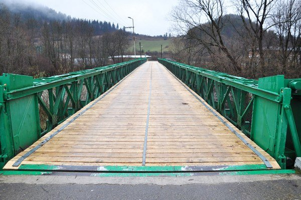 Opravený most.