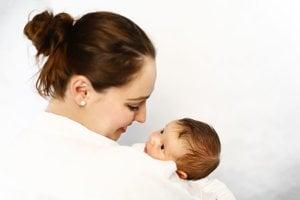 Šťastná mamička Peťka s dcérkou Alexandrou.
