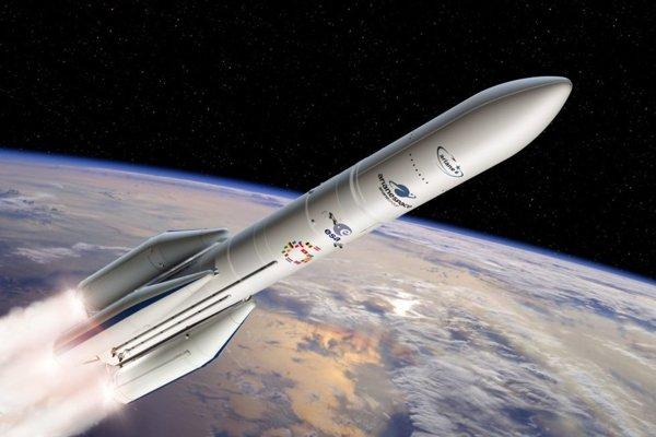 Vizualizácia rakety Ariane-6.