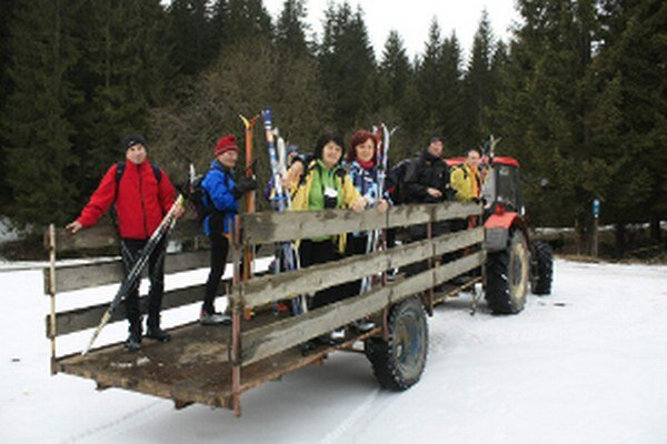 Odvoz za snehom v Mútnom.