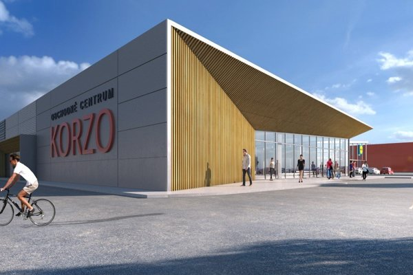 Vizualizácia nového obchodného centra.