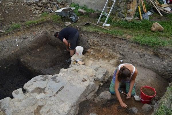 Archeologický výskum vo Fiľakove.