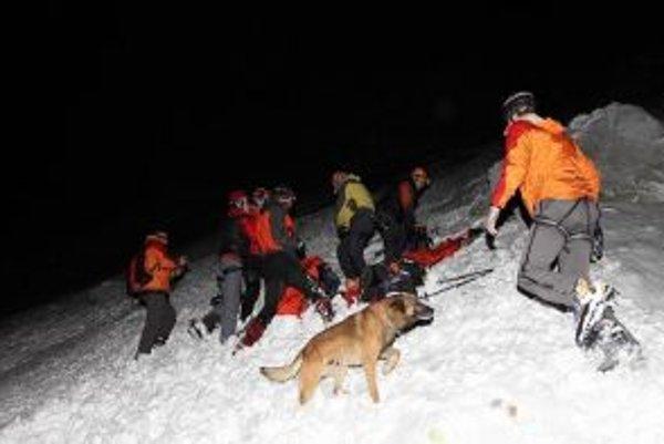 Lavínový pes je pri lavínach nenahraditeľným pomocníkom.