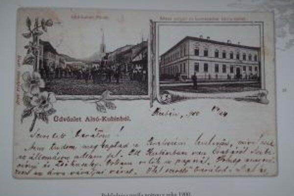 Ukážka z knihy Dolný Kubín na historických pohľadniciach.