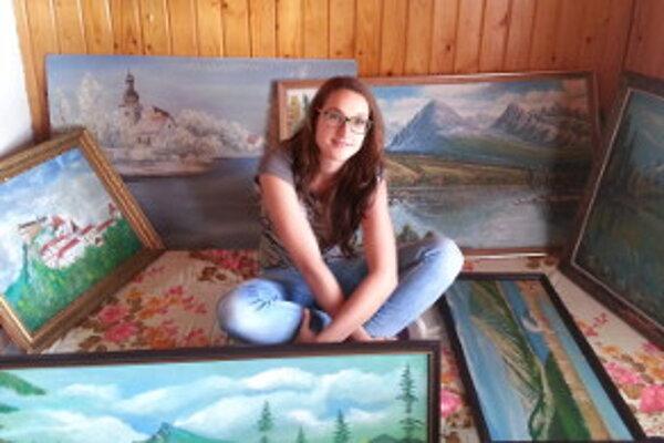 Zuzana Rosinová, autorka výstavy obrazov nepoznaného umelca.