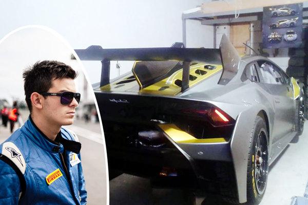 Samo Sládečka (so starším bratom Filipom) bude jazdiť na novom vlastnom vozidle Lamborghini Huracan.