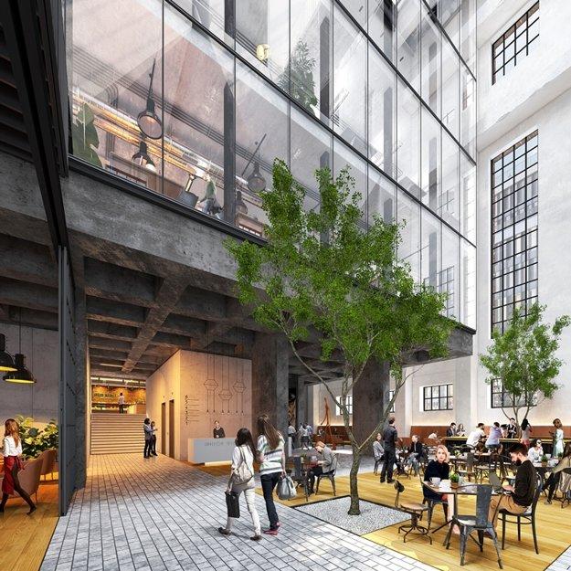 Budúca lobby v kotlovej hale.