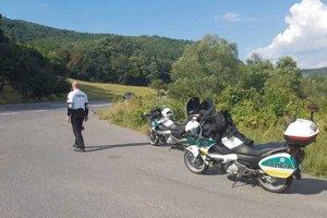 Do akcie sa zapojilo osem príslušníkov polície na služobných motocykloch.