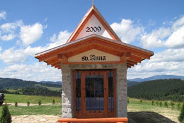 Nová kaplnka sv. Anny vo Vaňovke.