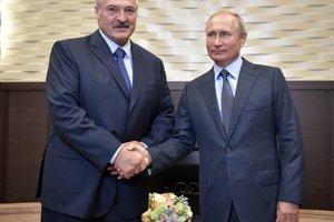 Bieloruský líder Alexandr Lukašenko a ruský prezident Vladimir Putin.