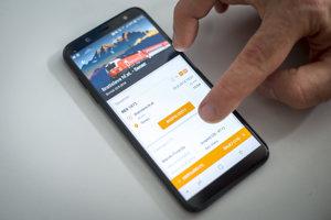 Pohľad na novú aplikáciu Železničnej spoločnosti.