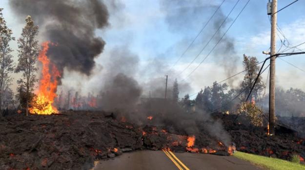 Láva tečúca zo sopky Kīlauea, 5.5.2018