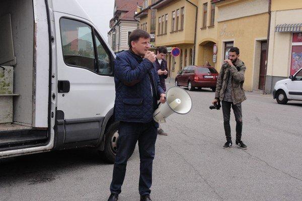 Alojz Hlina v Topoľčanoch.