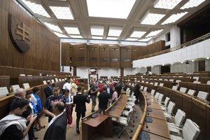 Deň otvorených dverí v Národnej rade SR v rámci osláv Dňa Ústavy Slovenskej republiky v sobotu 1. septembra 2018 v Bratislave.