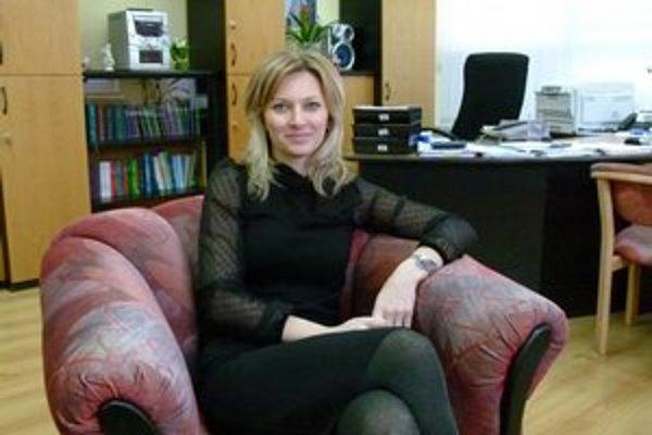 Riaditeľka topoľčianskej pobočky Sociálnej poisťovne Aneta Molnárová.