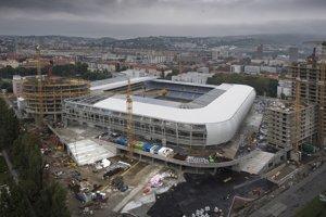 Stavenisko Národného futbalového štadióna.