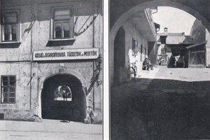 Stará kasáreň košických hasičov a záchranárov na Kováčskej ulici, fotografia po r. 1918.