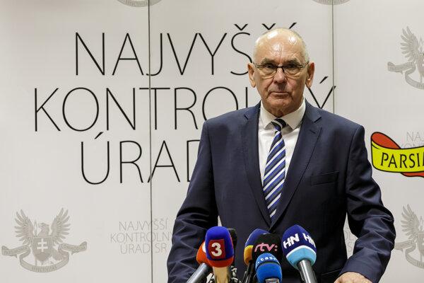 Predseda Najvyššieho kontrolného úradu SR Karol Mitrík.