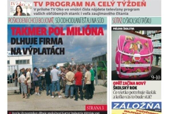 Najnovšie číslo MY Topoľčianske noviny Dnešok vychádza v utorok. Kúpite ho v každom stánku za 50 centov, u nás v redakcii len za 40 centov.