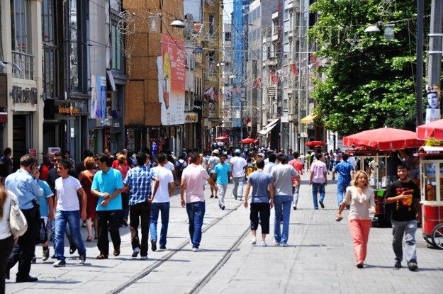 Slávna istanbulská tepna Istiklal