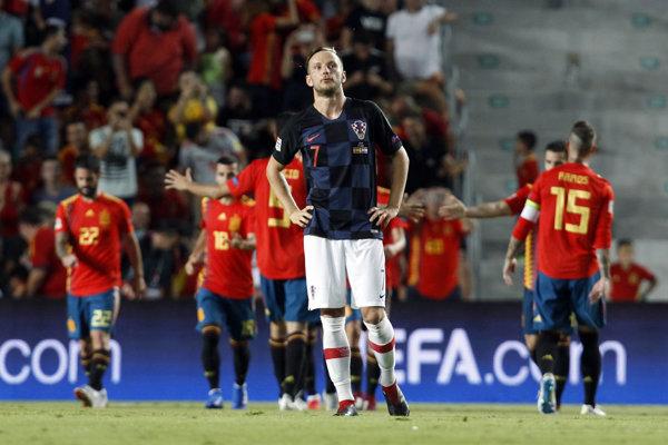 Chorváti zápas proti Španielsku vôbec nezvládli.