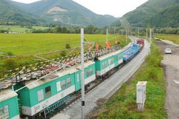 Rekonštrukcia trate medzi Vrútkami a Varínom je už dokončená.