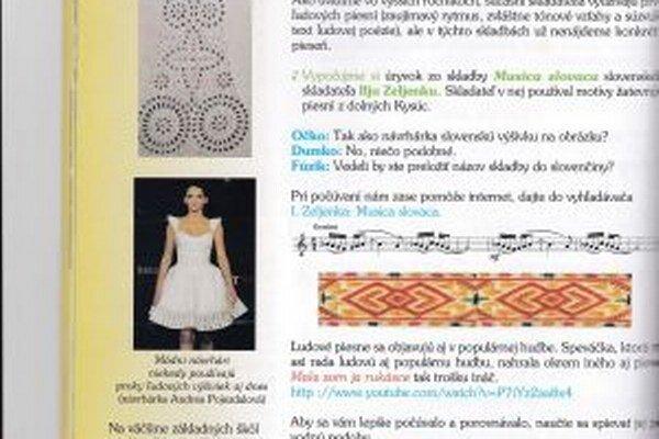 Model z Andreinej kolekcie White sa dostal do učebnice hudobnej výchovy.